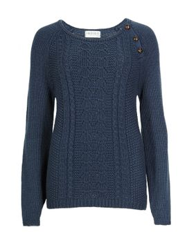 fan-stitched-button-jumper by marks-&-spencer
