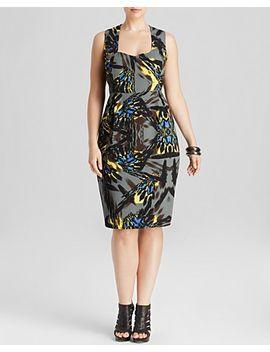 kaleidoscope-print-dress by anna-scholz-plus