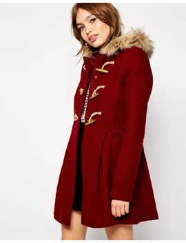asos-faux-fur-hooded-duffle-coat by asos-collection