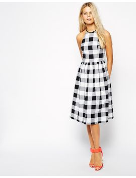 asos-midi-skater-dress-in-gingham by asos-collection