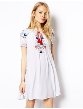 asos-folk-embroidered-swing-dress by asos-collection