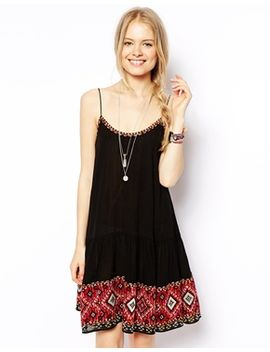 asos-swing-dress-with-pretty-embroidered-hem by asos-collection