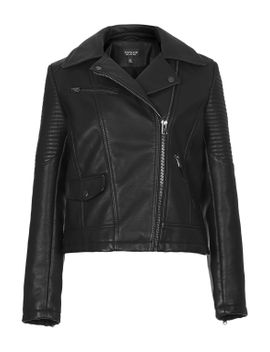 faux-leather-biker-jacket by topshop
