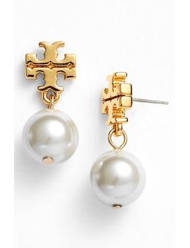 faux-pearl-drop-earrings by tory-burch