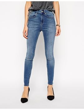 asos-ridley-skinny-ankle-grazer-jeans-in-busted-blue-with-ripped-knees by asos-collection