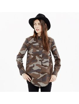 the-perfect-tunic-in-cotton-camo by madewell