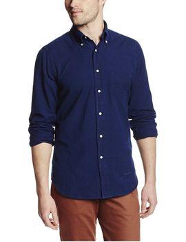 gant-rugger-mens-slim-fit-oxford-shirt,-dark-indigo,-medium by gant+rugger