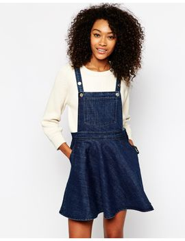 monki-denim-dungaree-dress by monki