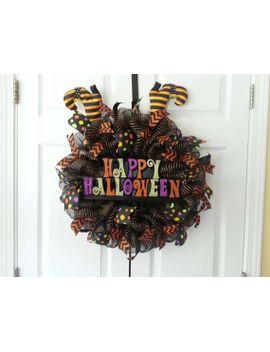 fun-happy-halloween-deco-mesh-wreath by someshedup