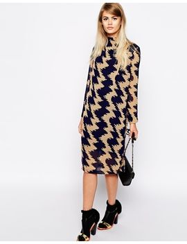 the-laden-showroom-x-paisie-zig-zag-high-neck-shift-dress by the-laden-showroom