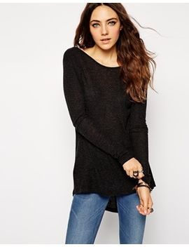 asos-top-with-long-sleeves-and-scoop-neck-in-textured-rib by asos-collection