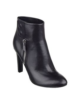 clio-black-leather-booties by nine-west