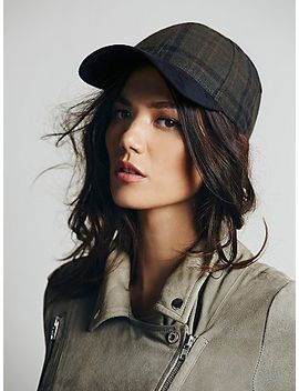 ashton-plaid-and-suede-baseball-hat by free-people