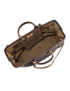 billykirk®-leather-overnight-carryall by jcrew