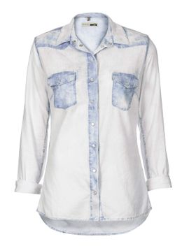 moto-fitted-westen-shirt by topshop