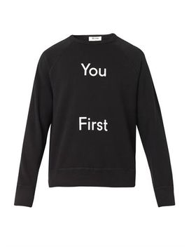 college-you-first-print-sweatshirt-(205321) by acne-studios