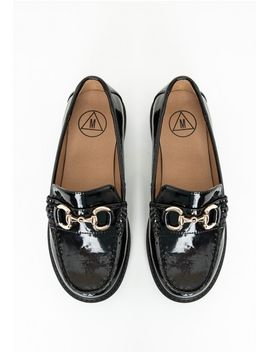 ava-buckle-patent-loafers-black by missguided
