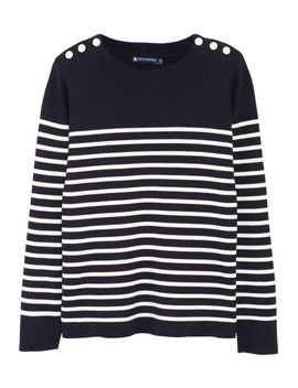 striped-buttoned-cotton-sweater by petit-bateau