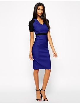 vesper-sexy-pencil-dress-in-colour-block by vesper
