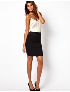 asos-high-waisted-pencil-skirt-with-elastic-sides by asos-collection
