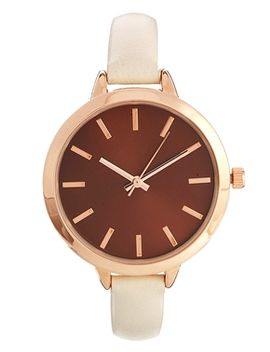 asos-large-face-slim-strap-watch by asos-collection