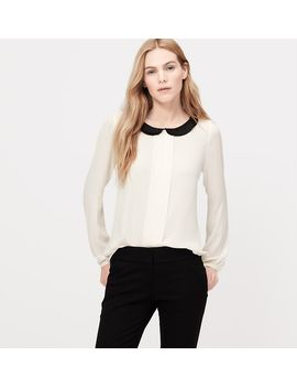 ruffle-collar-pleated-blouse by loft