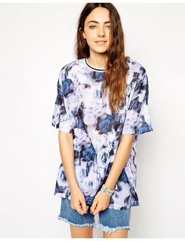 asos-oversized-blurred-floral-t-shirt by asos-collection