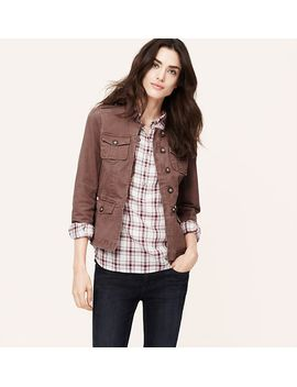 cotton-twill-military-jacket by loft