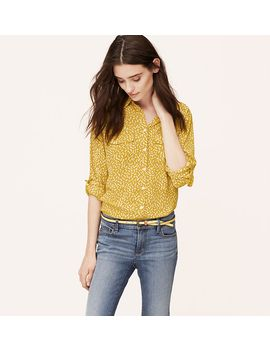 tall-floral-bud-utility-blouse by loft