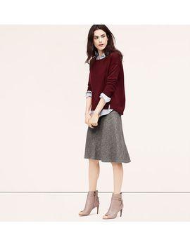 fluted-midi-skirt by loft