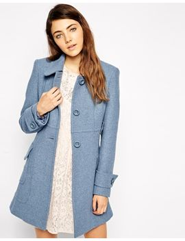 asos-coat-in-a-line-with-panel-detail by asos-collection