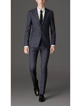 slim-fit-travel-tailoring-wool-sharkskin-suit by burberry