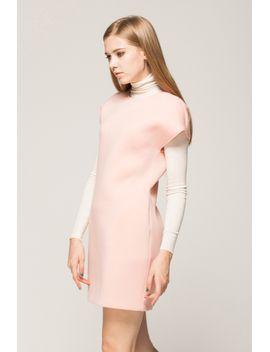 textured-shift-dress by designer