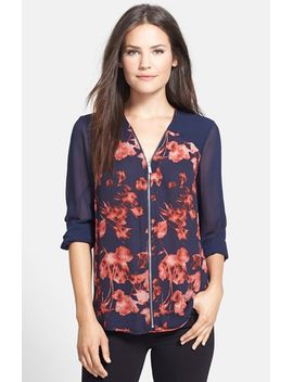 floral-shades-zip-front-blouse by vince-camuto