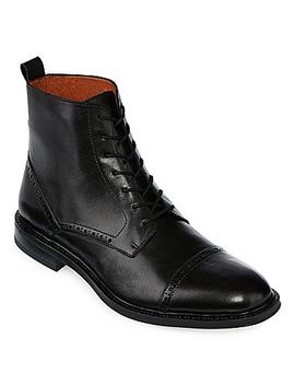 stafford®-gunner-mens-cap-toe-leather-boots by stafford