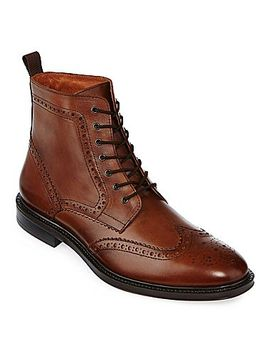 stafford®-deacon-mens-wingtip-leather-boots by stafford