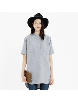 collarless-tunic-in-rainy-day by madewell