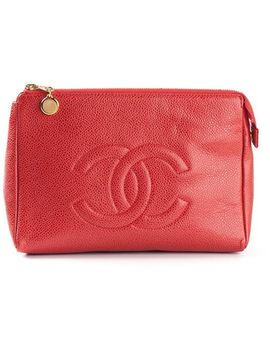 embossed-logo-clutch by chanel-vintage