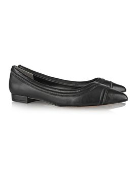 the-outnetritz-chain-trimmed-leather-ballet-flats by pour-la-victoire