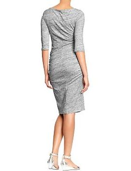 womens-3_4-sleeved-jersey-dresses by old-navy