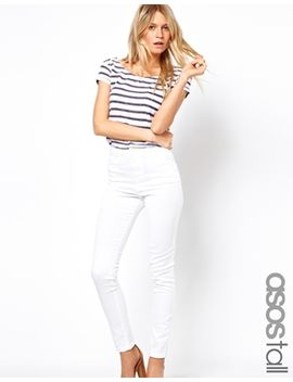asos-tall-high-waist-trousers-in-cotton-twill by asos-tall