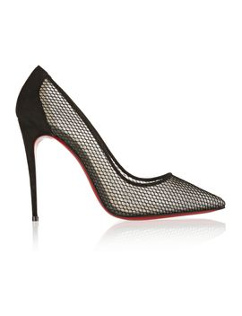 follies-resille-100-suede-trimmed-mesh-pumps by christian-louboutin