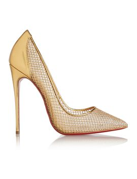 follies-resille-120-metallic-leather-and-embroidered-mesh-pumps by christian-louboutin