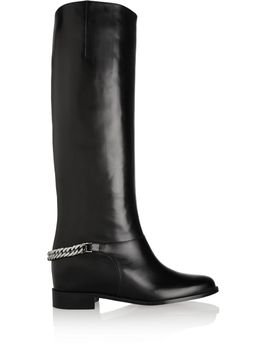 cate-chain-trimmed-leather-riding-boots by christian-louboutin