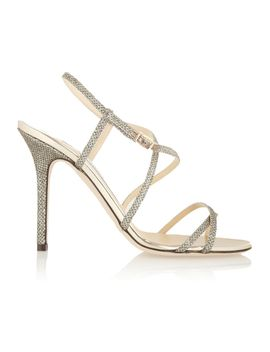 issey-textured-lamé-sandals by jimmy-choo