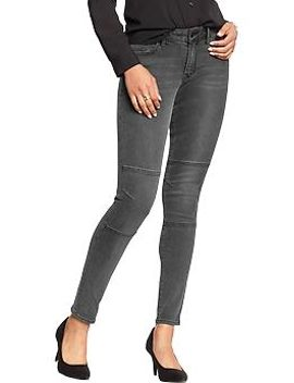 womens-the-rockstar-mid-rise-knee-seam-jeans by old-navy