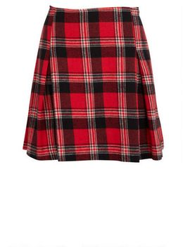plaid-flannel-skirt by delias