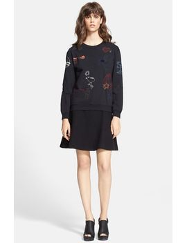 embroidered-cotton-sweatshirt by carven