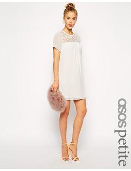 asos-petite-lace-insert-swing-dress by asos-petite