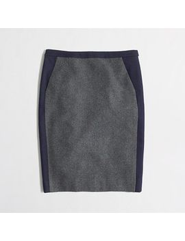 factory-petite-pencil-skirt-in-tipped-wool by jcrew